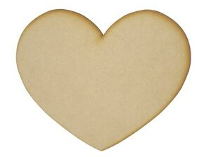 MDF Wooden Shapes Hearts 15cm 150mm High 3mm Thick Custom Cut x 8 pieces 033