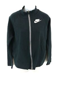 NIKE Womens Tracksuit Top Track Jacket S Small Black Cotton & Polyester