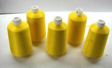 Lot of 5 Industrial Sewing Machine Threads Nylon Yellow 5 Spools 70/24x3 C0157