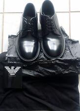 Emporio Armani X4C085 Men's Black Lace-Up Shoes Size 7.5