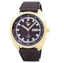 Seiko 5 Sports SRPB74 K1 Gold Brown Dial & Strap Men's Automatic Analog Watch