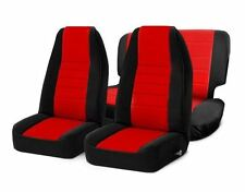 Jeep Wrangler YJ Front and Rear Neoprene Seat Covers Red 91-95 Smittybilt 471130