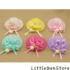 Pearl Bow Girls Children Hairdress Kids Barrettes Hair Clip Top Baby Hat Topper