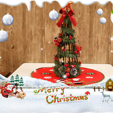 Christmas carpet party ornaments xmas decoration for home non-woven tree skirtPL