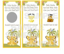 LION KING Baby Shower party game scratch off tickets SIMBA NALA Hakuna Matata