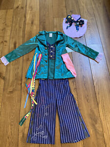 Disney Charlie And The Chocolate Factory Costume Willy Wonka 7-8 Yrs BRAND NEW