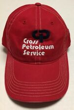 Cross Petroleum Service Hat Oil Gas Baseball Cap Energy Glendive Montana MT Red