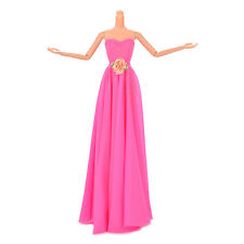 1 Pcs Rose Doll Dress with Flowers Evening Gown Manual Wedding DresRCCA
