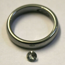 NATURAL WHITE SAPPHIRE 4MM ROUND LOOSE GEMSTONE 0.4CT FACETED GEM SA60C