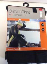 Climate Right CuddlDuds Womens Leggings Stretch Fleece Black Size Small (6-8)