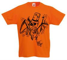 Niño Bate Camiseta Año 5 -13 Años Antigua Niños Halloween Góticas Espeluznante