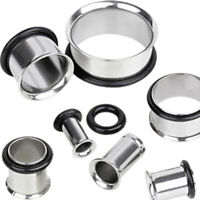 """316L Surgical Steel Single Flared Tunnel Plug Up to 2"""""""