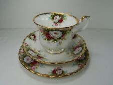Royal Albert Celebration Tea Cup, Saucer and Side Plate TRIO Bone China England.