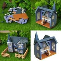 1:12 DIY Dollhouse Mini House Cottage Wooden Toy Doll's Set Accessory B5Q2