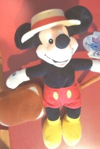 a Disney 2001 Disneyana Convention Mickey Mouse Bean Bag Beanie Disneyland Promo