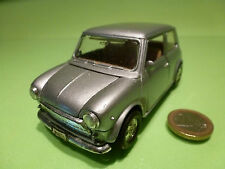 WELLY VINTAGE MORRIS MINI COOPER - SILVER GREY 1:24? LHD - RARE - GOOD PULLBACK
