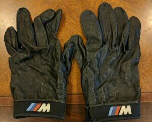 BMW Genuine M Driving Gloves Black Leather Mens XL barely used