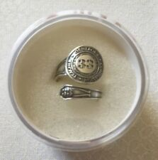 New Alex and Ani # 33 Numerology Spoon Ring - .925 Sterling Silver