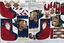 "Cotton Quilt Fabric Christmas Nick of Time 3-D Stocking Susan Jill Hall 35"" x60"""
