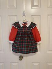 New listing Vtg - Polly Flinders - Fall Plaid Smocked Dress - size 2-3