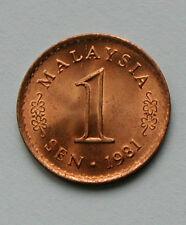 1981 MALAYSIA 1 Sen Coin - UNC - red lustre