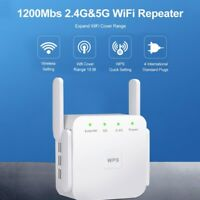 1200Mbps Range WiFi Extender Signal Booster Wireless Duals Band Network Repeater