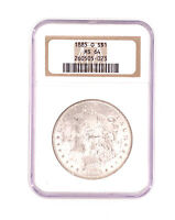 1885-O Morgan Silver Dollar NGC MS 64