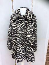 Lovely Monki Oversized Animal Print Faux Fur Coat - BNWT