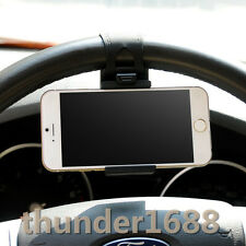 Car Steering Wheel iPhone 4 4S 5 5C 5S 6 HTC Amazon Fire Phone GPS Holder Black