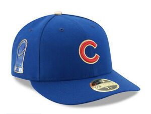 Chicago Cubs New Era Gold Program World Series Low Profile Fitted Hat Blue