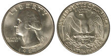 STATI UNITI UNITED STATES USA  1/4 DOLLARO WASHINGTON Nickel 1987 D #5857