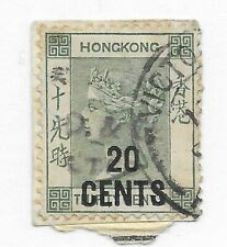 #52 Hong Kong Forged O/P? - CAT ($175.00) Stamp