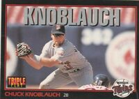 FREE SHIPPING-MINT-1993 Triple Play #48 Chuck Knoblauch Minnesota Twins Basebal