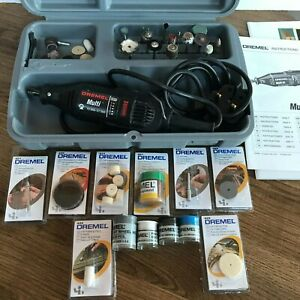 Dremel 3950 Multi Tool With Case, Instructions and New/Sealed Accessories