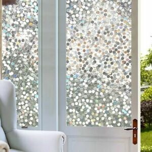 Stained Glass Window Film Rainbow Effect Removable Self Adhesive 3D Clear Circle