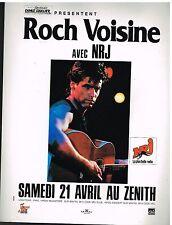 Publicité Advertising 1990 Concert Roch Voisine au Zenith