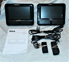 """Rca Drc69702 Dual 7"""" Screen Mobile Portable Dvd Players, Manual, Cables & Straps"""