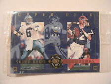 1993-1994 Upper Deck Super Bowl Showdown Series #1 TROY AIKMAN & JIM KELLY Bonus