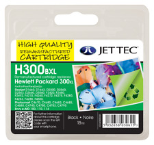 Jet Tec HP 300XL Black Ink Cartridge V.A.T Included Fast&Free UK Shipping