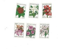 VINTAGE CLASSICS - MALDIVES 8617 - Flowers Set of 6 MNH