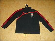 Liverpool Soccer Fleece Top England Adidas Soft Coat Football Zip Jacket NEW