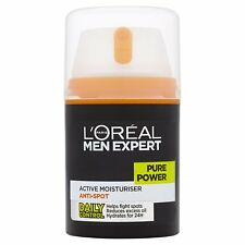 L'Oreal Men Expert Pure Power Anti-Spot Moisturiser Face Wash Scrub 50ml - NEW