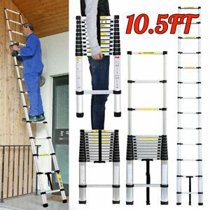 10.5FT/3.2M Telescopic Ladder Multi Purpose Aluminum Extension Steps Heavy Duty