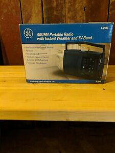 Vintage GE Portable AM FM Radio 7-2946 with Instant Weather & TV Band 1997