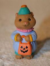 Halloween Hallmark Merry Miniature Squirrel wearing Clown Costume 1994