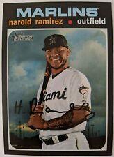 2020 Topps Heritage #49 Harold Ramirez - Miami Marlins