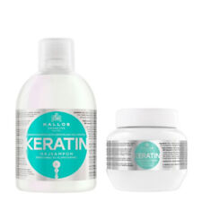 Hair Set Shampoo and Mask With Milk Protein 1000ml 275ml Kallos KJMN Keratin