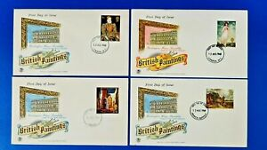 Set of 4 GB First Day Covers 12 Aug 1968 British Paintings, Burlington House NY0