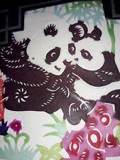 PKT 0F 10 CHINA PAPER CUT  PANDAS.