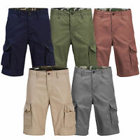 Mens Cargo Shorts JACK & JONES Preston Military Style Summer Pants